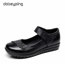 New Handmade Genuine Leather Women's Ballet Flat Shoes Female Casual Loafers Woman Comfortable Car-Styling Shoe Mom Walking Shoe(China)
