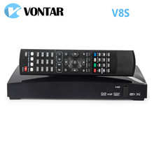 1pc Original V8S satellite receiver S V8 support 2xUSB USB Wifi WEB TV Cccamd Newcamd Weather Forecast Biss Key(China)