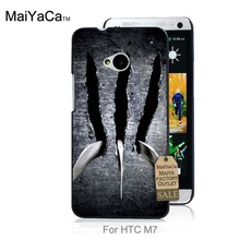 Luxury Quality PC phone case For case HTC One M7  Super Cool Wolverine Claws
