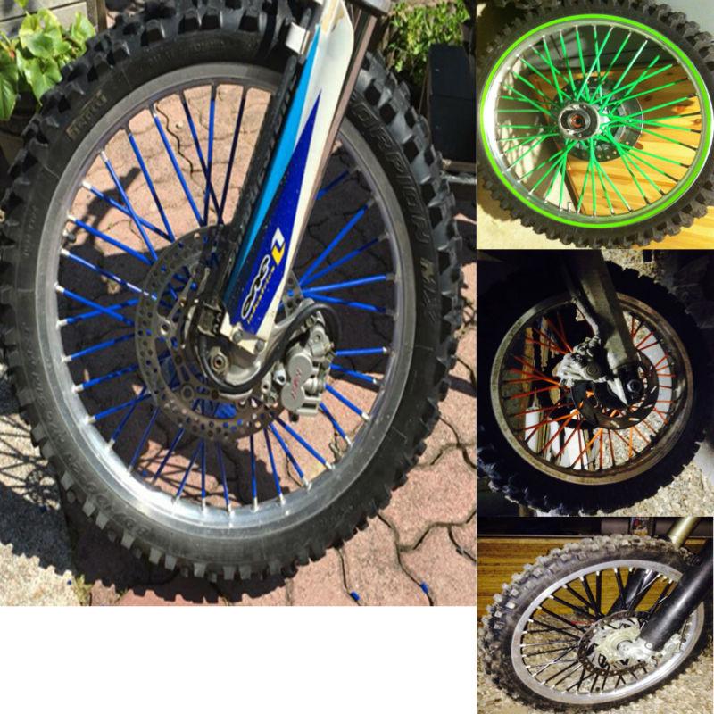 80pcs For kawasaki kx 250 Motocross Dirt Bike Enduro Wheel RIM SPOKE SKINS COVERS For WR250 KTM150 EXC450 250 kawasaki kx<br><br>Aliexpress