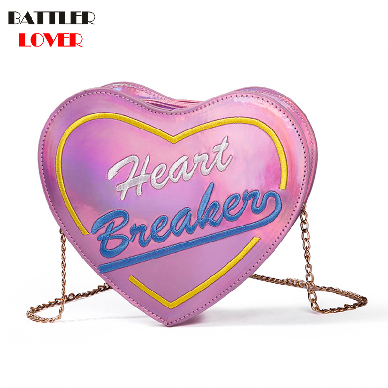 Heart Shape Womens Bags Handbags Crossbody Bags Girls Shoulder Messenger Bag Mujer femme Handbag for Women 2018