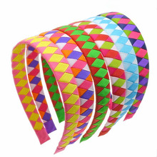 100pcs DHL Free shipping Preppy Grosgrain Ribbon Woven Headband personalized woven ribbon headband