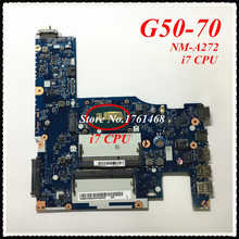 NM-A272 mainboard For Lenovo G50-70 Z50-70 Laptop motherboard i7 CPU 100% working Free Shipping
