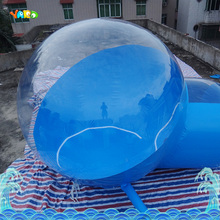 Blue pvc air play house tent commercial use advertising for hotel activity