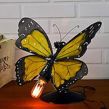 Vintage Edison Table Lamp Butterfly Desk Light Bulb AC 90-260V Vintage Table Lamps Personalized Water Pipe Desk Lights