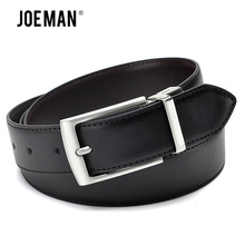2017 Men Belts Fashion Accessories Luxury Revolvable Buckle Leather Belts For Men High Quality Black and Dark Brown Color(China)