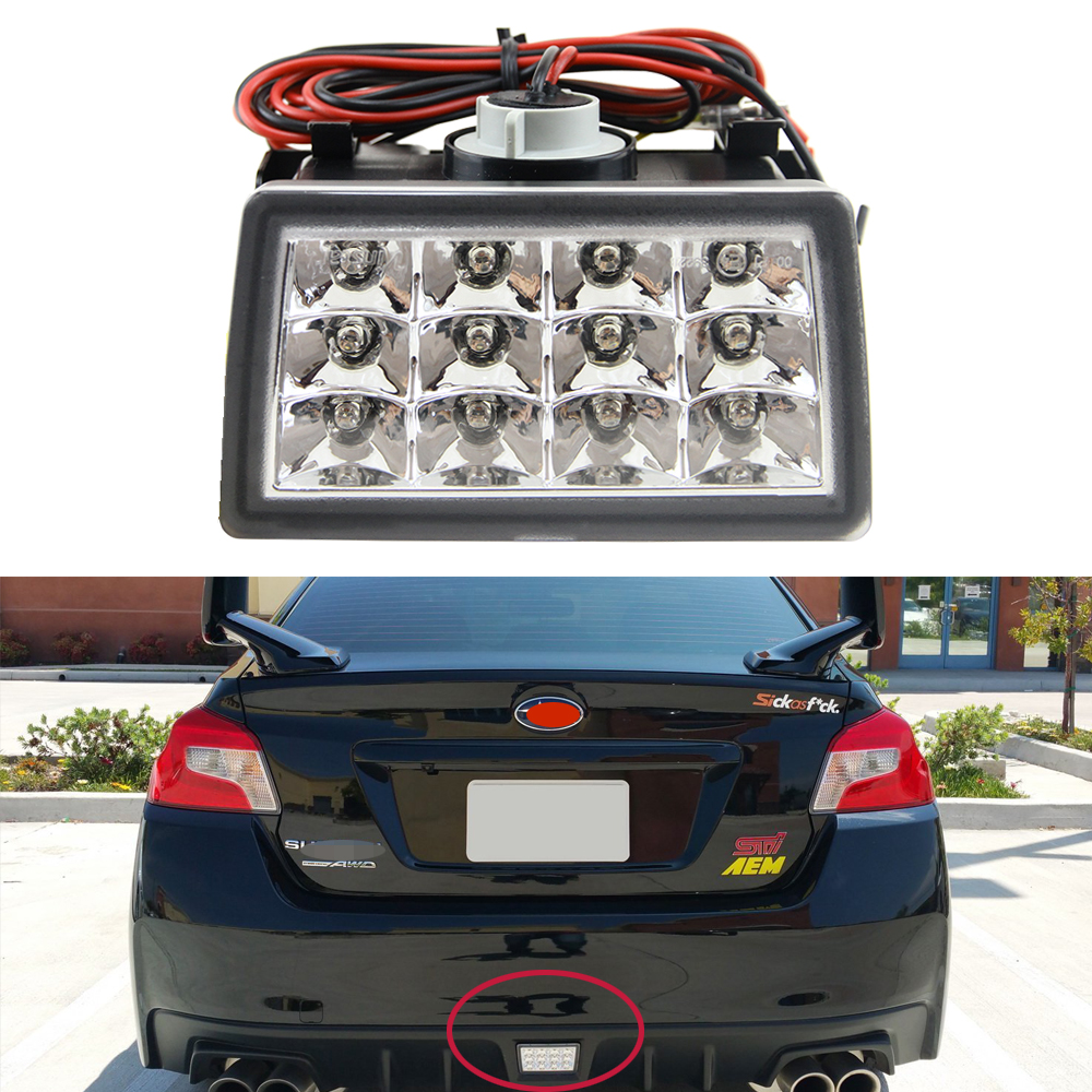 Clear Chrome Lens F1 Style LED Rear Fog Light Kit For 2011-up Subaru WRX STi, Impreza or VX Crosstrek with Wire Harness &amp; Mount<br><br>Aliexpress