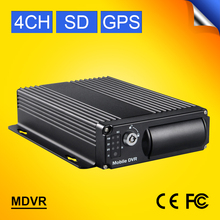 GS-8104GPS 4 Chanle Built-in GPS Mobile dvr D1,I/O Alarm,Motion Detective, 24 hours monitor Car DVR Support SD Card up to 128G