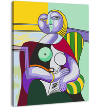Frameless picture DIY new arrival diy digital oil painting abstract 40 50 paint by number kits Picasso speech