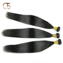 Top quality full thick human hair brazilian virgin hair straight can be dyed and bleached customized 3 bundles per lot