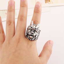 2016 new Gypsy 4pcs/Set Vintage Punk Rings Unique Carved Antique Choker Elephant Totem Lucky Rings For Women Boho Beach Jewelry