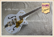 Best Price Jazz Hollow Guitar Gretsch White Falcon G6120 Electric Guitar China Muscial Instrument For Sale(China)
