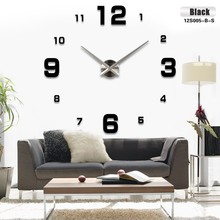 Fashion 3D 2016 new sale wall clock clocks reloj de pared watch 3d diy Acrylic mirror Stickers Quartz Modern Home Decoration