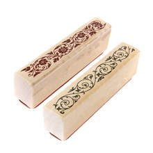 1PC Beautiful Design The Best Price Wooden Rubber Flower Lace Stamp Floral Seal Scrapbook Handwrite Wedding Craft For Decoration