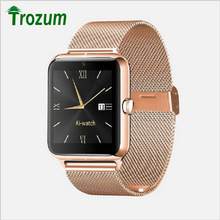 TROZUM bluetooth Smart Watch Z50 wristband Support SIM TF Wearable Devices Sports SmartWatch for Apple android PK GT08(China)