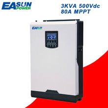 EASUN POWER 3Kva Solar Inverter 2400W 500V PV Input 24V 220V 80A MPPT Pure Sine Wave Inverter 50Hz Off Grid Inverter Charger