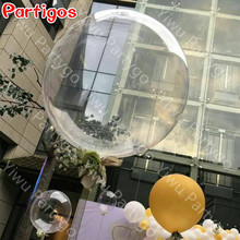 10pcs 10/18/24inch No wrinkles Clear PVC Balloon Transparent helium globos Birthday Wedding Party Decor Supplies Bubble Gifts