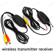 2.4G Wireless RCA Video Transmitter Receiver Kit for Car DVD Monitor Rear View Camera Reverse Backup Top-Rated Best Quality