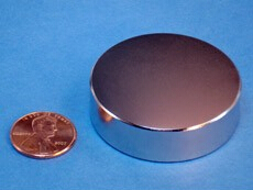 NdFeB Disc Magnet  1 3/4 dia.x1/2 thick Neodymium Permanent Magnets Grade N42 NiCuNi Plated Axially Magnetized EMS SHIPPED<br>