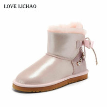 100% Natural Sheepskin Fur Snow Boots Women Australia Classic Snow Boots Top Quality Leather Ankle Boots For Women Botas Mujer