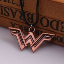 Fashion Movie Superhero Wonder Woman Torque The Winner Acronym W Logo Pendant necklace for men and women factory outlet