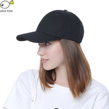 Black Adult Unisex Casual Solid Adjustable Baseball Caps Snapback hats for men baseball cap women men white baseball cap hat cap(China)