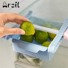 Storage Box Refrigerator Fresh Spacer Layer Storage Rack Creatives Pull-out Office Drawer Spacer Sort Kitchen Tool 12.3*15.5cm