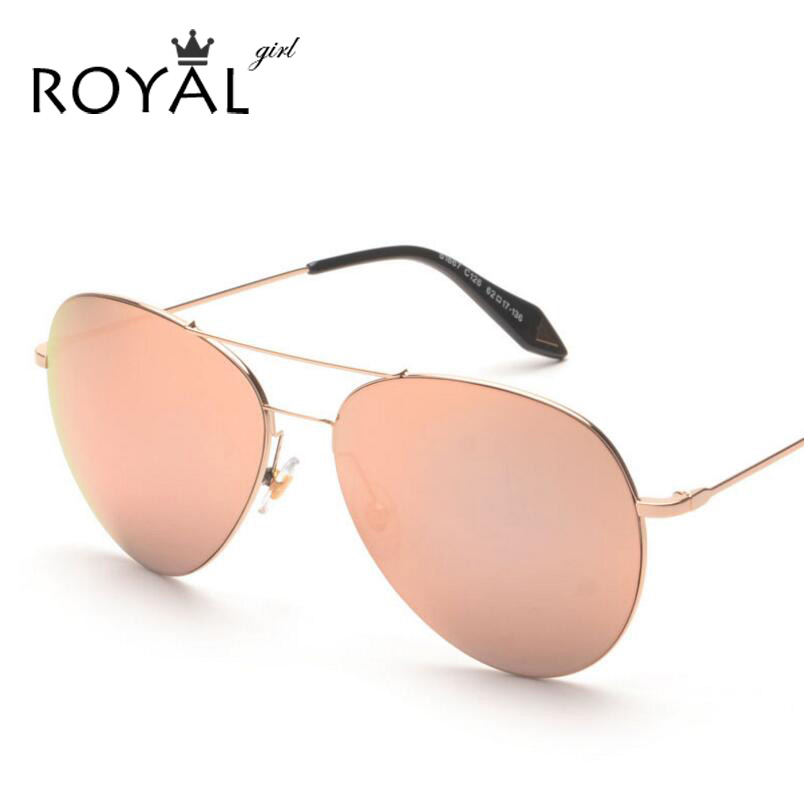 ROYAL GIRL Fashion Reflective Mirror Sunglasses Women Brand Metal Frame Twin Beams Men Sun Glasses oculos de sol feminino ss333<br><br>Aliexpress