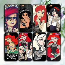 New Design CellPhone Case For iPhone 6 6s Tattoo Girl Hard Back Case Cover For Apple 6 6Plus In Mobile Phone Case