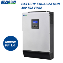 EASUN POWER 5000W PWM Solar Inverter 5Kva Inverter 48V 220V Pure Sine Wave Inverter 50A Off Grid Inverter 60A Battery Charger