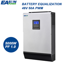 EASUN POWER Solar Inverter 5000W PWM Inverter 48V 220V Pure Sine Wave Inverter 5Kva 50HZ Off Grid Inverter 60A Battery Charger(China)