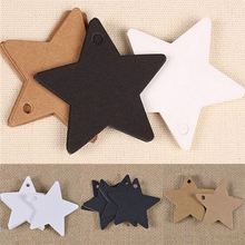 100Pcs Black Star Kraft Paper Label Price Tags Wedding Christmas Halloween Party Favor Gift Card Luggage Tags Packaging Labels(China)