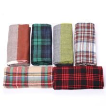 1 PC New Fashion Women Ladies Winter Warm Blanket Oversized Tartan Scarf Wrap Shawl Plaid Cozy Checked Pashmina Scarives