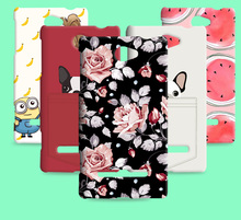 Russia Brazil flower Skin Hot sale cover Cat promotional discounts Cartoon case for HTC Windows Phone 8S A620E(China)