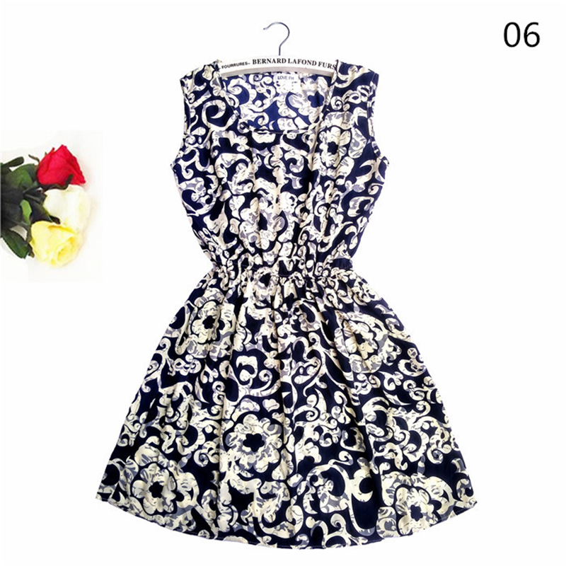 America Spring Casual Women Sleeveless Dress 3
