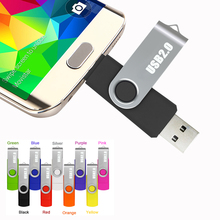 Metal Rotate OTG 64GB smartphone USB Flash Drive 64 gb usb 32gb pendrive memory stick flash disk 128 gb usb card wholesale 1th