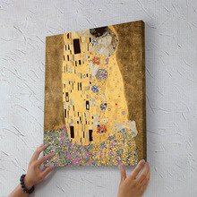 gustav klimt kiss painting gifts DIY handmade painting by numbers abstract drawing coloring by numbers on canvas with wood frame