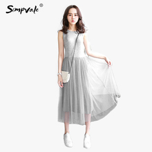 summer dresses Korean Preppy style Ball Gown women dress pink tank bottom O-Neck dress sweet slim casual princess dresses(China)