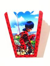 6pcs/lot ladybug popcorn box kids birthday party supplies ladybug boxes happy birthday popcorn boxes party supplies(China)
