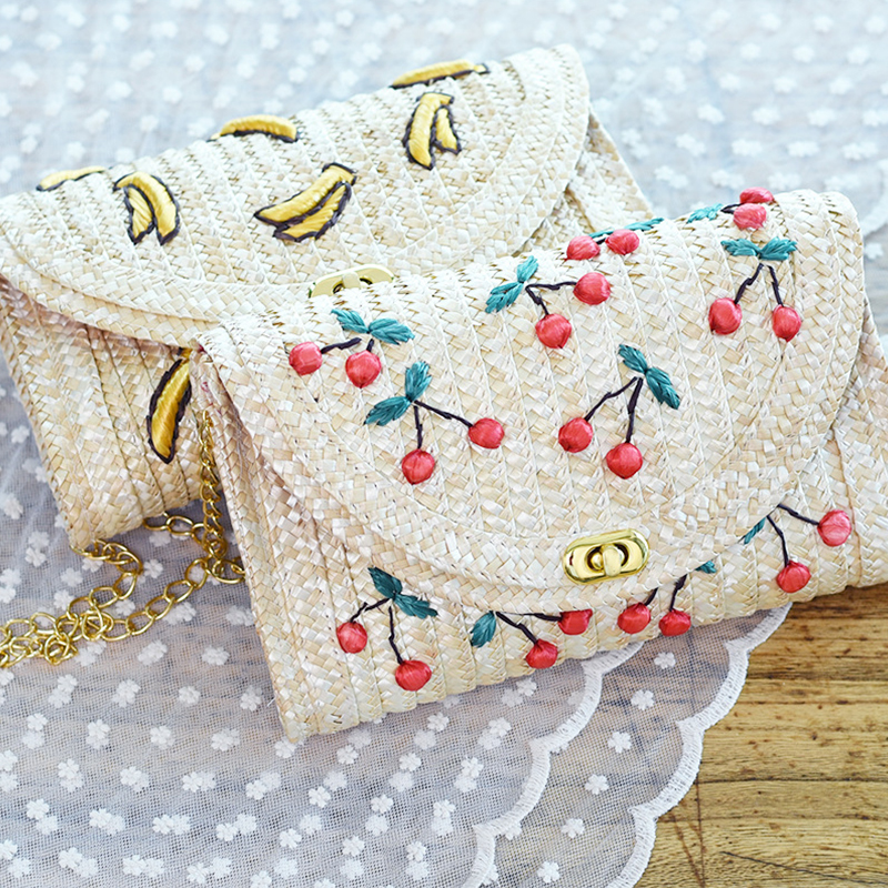 2017 Women Summer Bags Handmade Shoulder Bags Rattan Grass Weave Beach Bags Crossbody Bags Girls Small Cute Handbags<br><br>Aliexpress