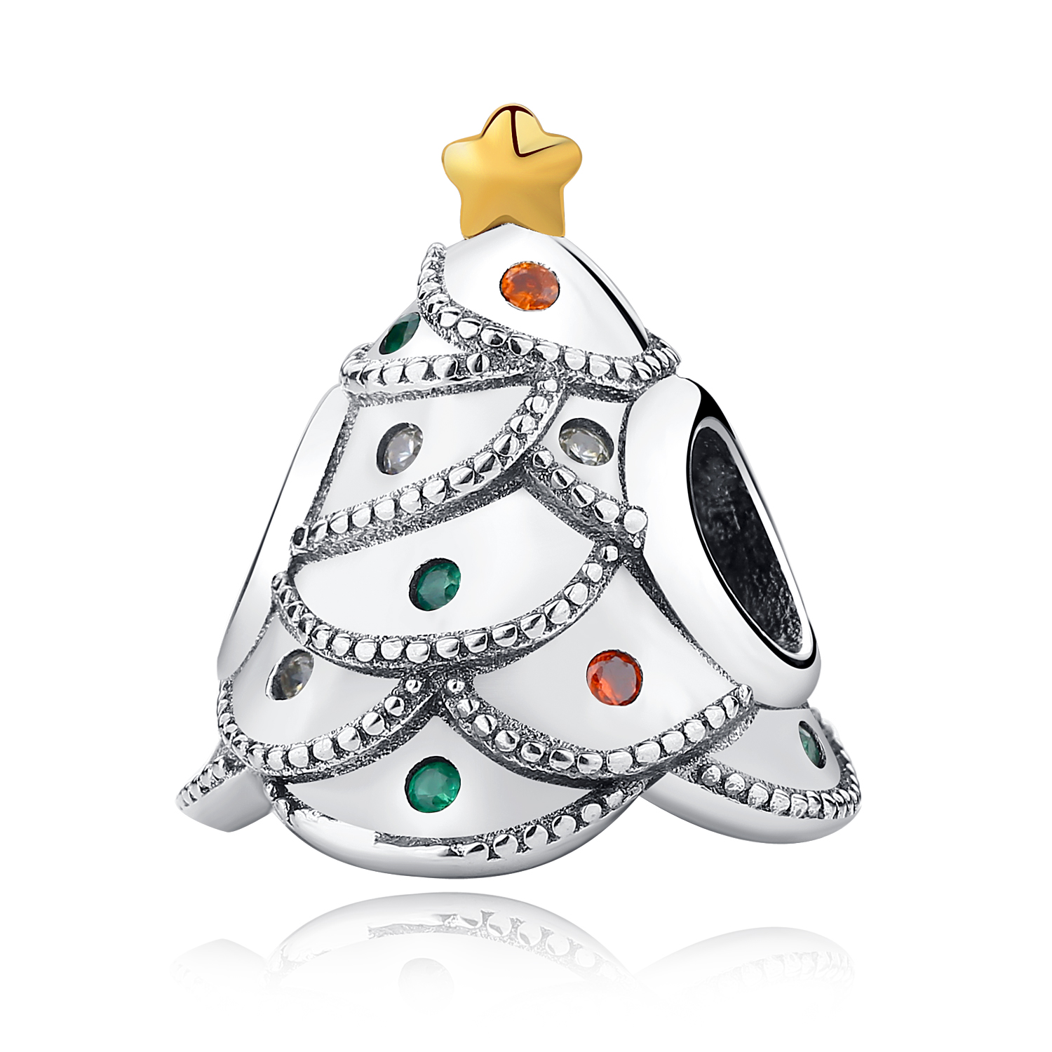 Aliexpress HOT Real 925 Sterling Silver Christmas Gift Present Charm Beads Fit Original WST Bracelet Authentic Jewelry