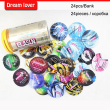 Original 24pcs/bank Elasun condoms man lifestyles 8 styles in one box condoms sex toy products for men fruit flavours super thin(China)