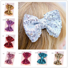 1PCS Big Hair Bow High Quality Clip Gold Hair Bows  s Hair Accessories Bling Hair Bow Large Hairclip With Bling