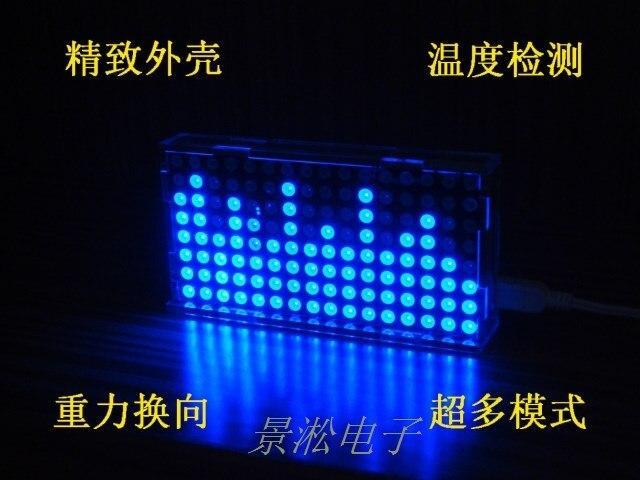 LS1608 music spectrum display LED dot matrix 51 MCU DIY production suite<br>