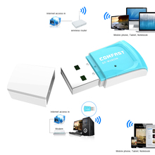 300Mbps Wireless USB Wifi Adapter Netawork Card Powerful Security PC Mini WI-FI Receiver w/ Internal 2 Antennas Support AP(China)