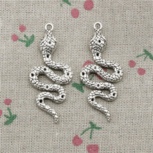 3pcs Charms snake cobra Antique Silver Pendant Zinc Alloy Jewelry DIY Hand Made Bracelet Necklace Fitting 51*21mm