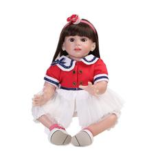 60cm New 24 Inch Reborn Toddler Doll Realistic Collection Dolls For Babies Playmate Accompany Sleeping Toys Juguetes Brinquedos(China)