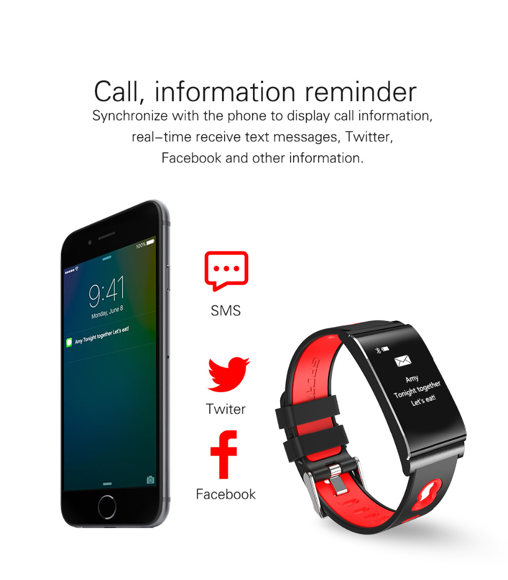 ALANTURING autumn new Bluetooth smart wristband SW102 fitness sleep tracker heart rate blood pressure oxygen monitor waterproof