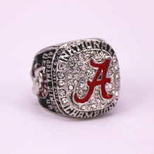USA Size 6 To 15! 2017 Hot Crazy NCAA 2015 Alabama Crimson Tide National Championship Ring Replica Solid Ring Drop Shipping(China)