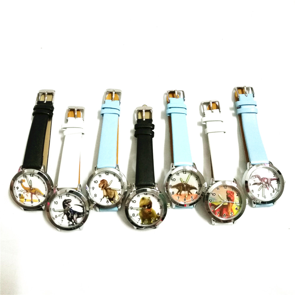 Cooperative Children Boys Girls Quartz Cartoon Anime Dinosaur Watches Kids Fashion Leather Luminous Pointer Cool Students Birthday Gifts Watches